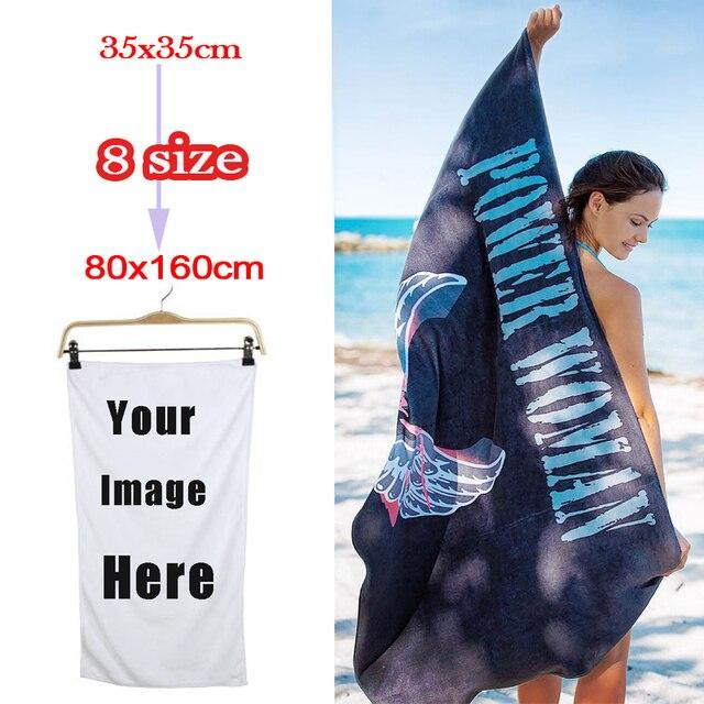 DIY Image Print Custom Bath Towels Personalized Customized Beach Towels Micro  Fiber Washcloth Washrag Corporate Gift With Logo 62ed322f4