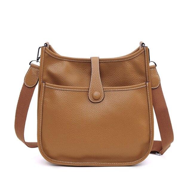 0577449c2a3 US $38.28 45% OFF|Luxury 2019 Genuine Leather Women Bucket Messenger Bag  Cow Leather Brand Designer Shoulder Bags Ladies Handbag Bolsa Feminina-in  ...