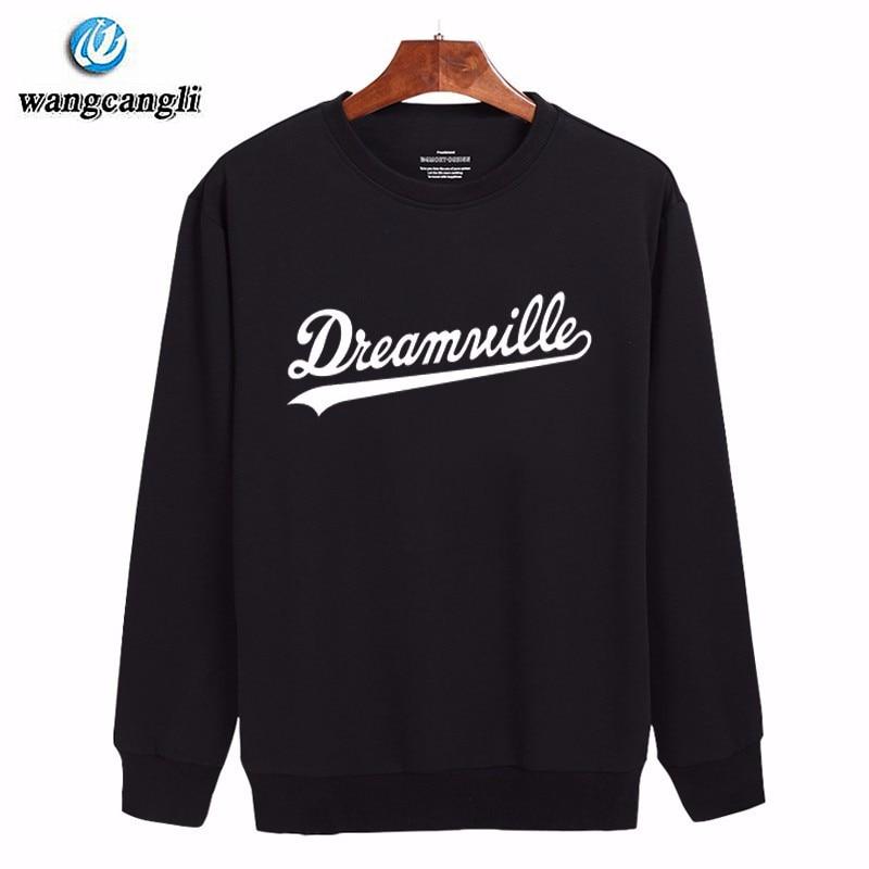 Dreamville Hoodie Sweatshirt Men 2018 New Plus Size Harajuku Tracksuit Cotton Fashion Design Pullover Mens Hoodies