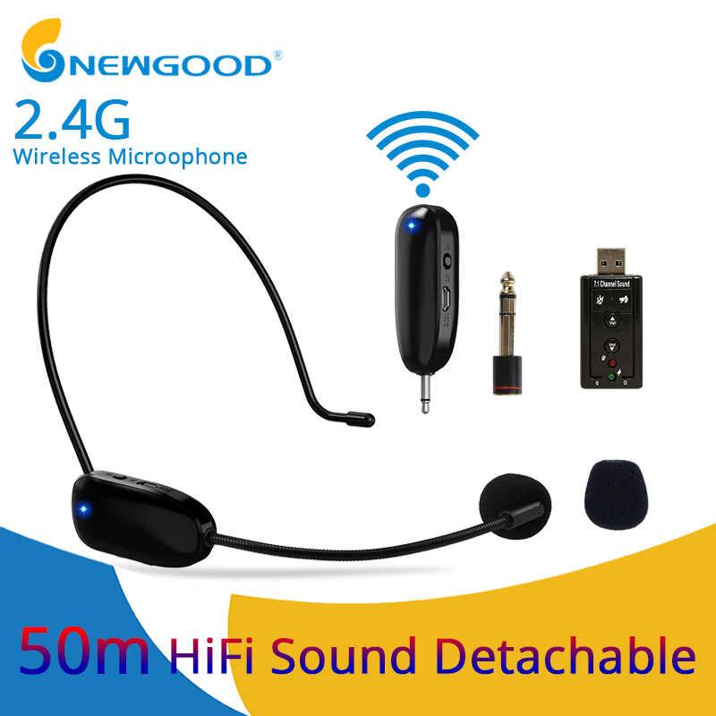 Mini Portable 2 4g Wireless Microphone Headset Megaphone Radio Bluetooth Microphone For Pc Loudspeaker Teacher Meeting Guide Aliexpress