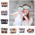 2Pcs/lot mom and baby headband boho top Headband Knotted hair bows elastic ribbon mommy baby matching children girls headwear