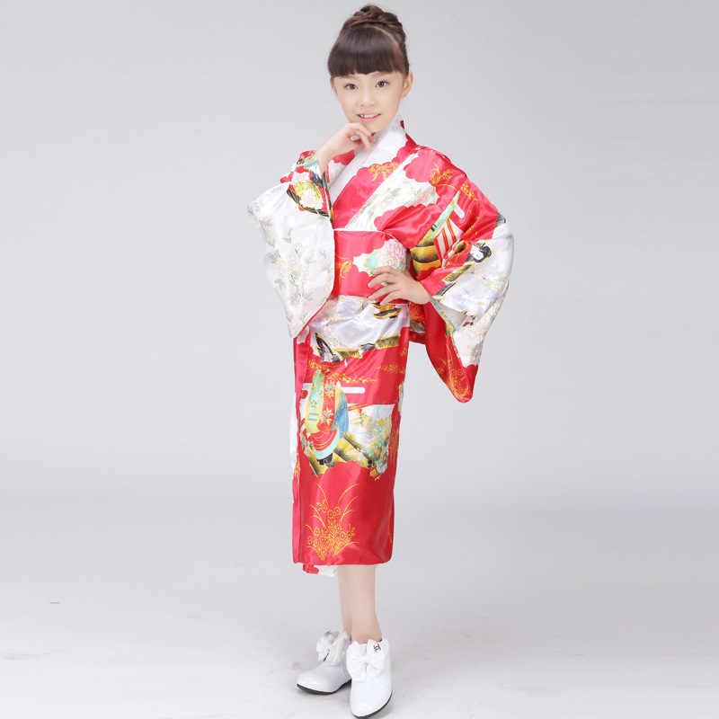 الأطفال يوكاتا اوبي خمر اليابانية جريل كيمونو الاطفال يوكاتا Haori اللباس التقليدية ثوب الكيمونو الياباني شحن shippingS و M L717-7