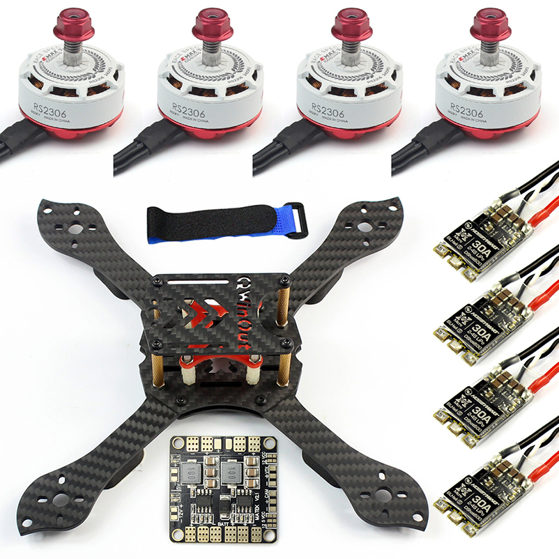 Threel X 3K Removable Frame RS2306 2400KV Motor Brushless 30A ESC For RC FPV Racing Dshot Drone Quadcopter DIY Kit Toy 4set lot universal rc quadcopter part kit 1045 propeller 1pair hp 30a brushless esc a2212 1000kv outrunner brushless motor