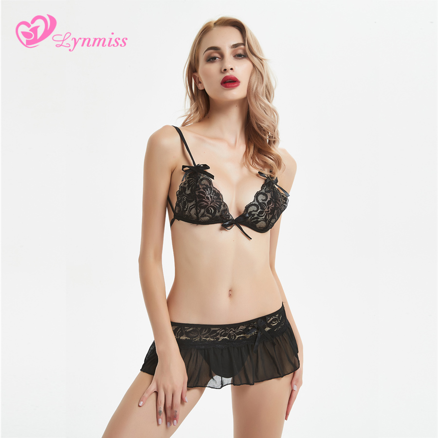 2018 Lynmiss <font><b>Sexy</b></font> <font><b>Lingerie</b></font> <font><b>Hot</b></font> <font><b>Dress</b></font> <font><b>Underwear</b></font> <font><b>Lace</b></font> <font><b>Set</b></font> Erotic <font><b>Lingerie</b></font> <font><b>1</b></font> <font><b>Set</b></font> G-string <font><b>Sexy</b></font> Costumes Novelty Special Use image