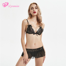 2019 Lynmiss Sexy Lingerie Hot Dress Underwear Lace Set Erot