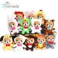 Wholesale 12cm Cute Small Rilakkuma Plush Toy Pendant Kawaii Stuffed Animal Soft Doll Keychain Promotion Gift