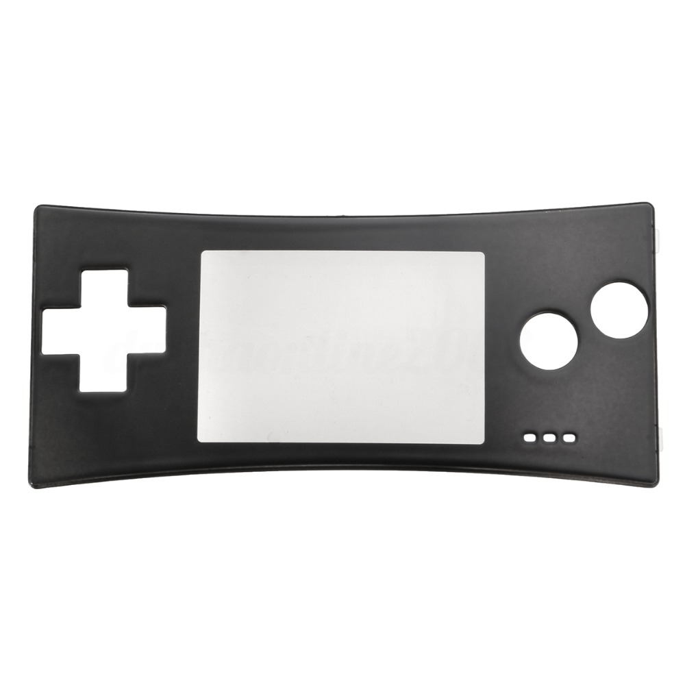 """""""Nintendo Gameboy Micro GBM"""" pakaitalas """"Black Front Shell Faceplate Case Cover"""""""