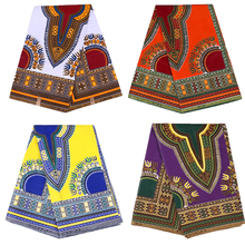 100% Cotton Africa Ankara Prints Wax Fabric JAVA Costume Hot Sale Real Dutch Sewing Material for Party Dress 6yards