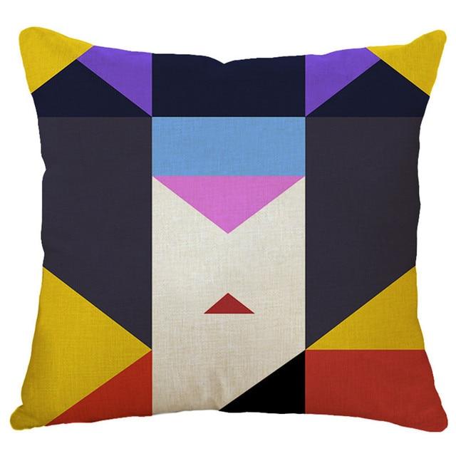ea3c39e7497016 € 2.67 41% de réduction|Gros cadeau housse de coussin boîte motif japonais  femme visage taie d'oreiller maison bureau canapé haute qualité taie ...