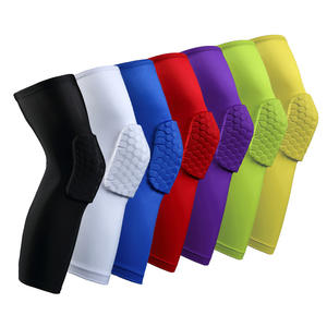 High Quality Sport Safety kneepad Football knee brace support Leg Sleeve Protector Calf compression Basketball White knee pads