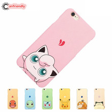 For Pokemons Go Pikachu Bulbasaur Charmander Squirtle Jigglypuff Snorlax Psyduck Coque For iPhone 6 6S 7 Plus Phone Case Cover