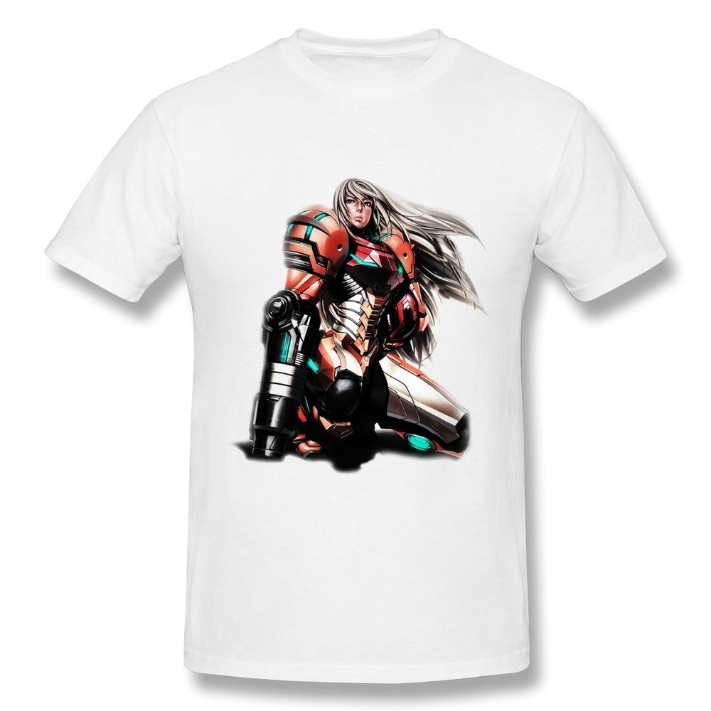 Hsuail Men's Samus Aran Video Game T-Shirt