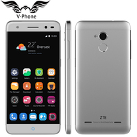 Original ZTE Blade V7 lite 4G LTE Mobile Phone 5 inch MT6735P Quad Core 1.0GHz 2GB RAM 16GB ROM AndroidM 13MP Camera Fingerprint