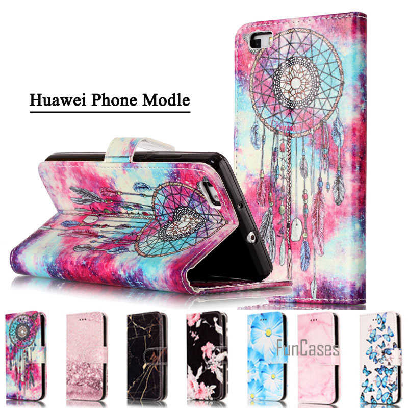 Funda Huawei P8 Lite 2017 P9 P10 Lite P10 Case Luxury 3D Marble PU Leather Wallet Flip Case Cover For Huawei P10 P9 P8 Lite 2017