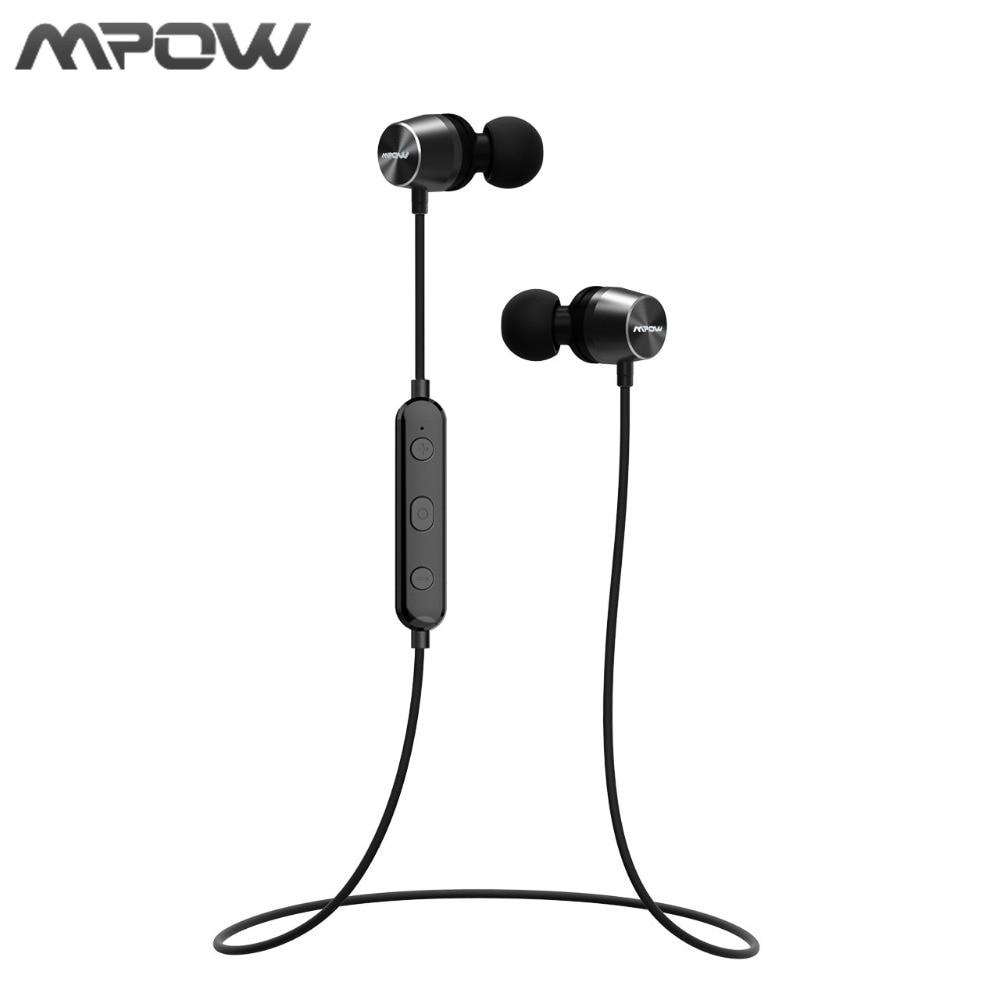 Mpow In-ear Wireless Earphone Bluetooth 4.1 Stero Earphones Magnetic Sports Volume Control For Phones Running Walking