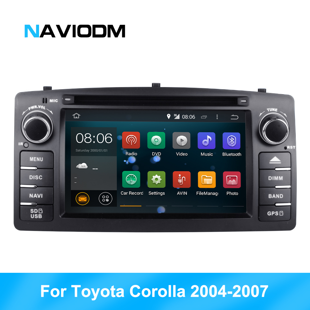RK Android 8.1 HD car multimedia player car radio For For Toyota Corolla 2004 2007 2 din Car GPS DVD 2G RAM