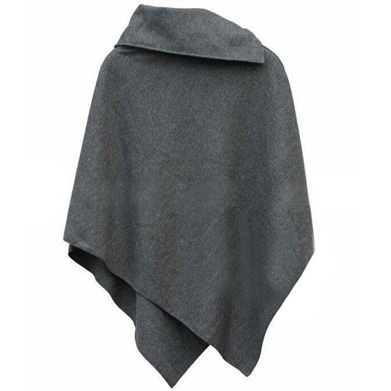 LERFEY Jesen Wimnter Žene Oversized Cape šal Batwing nepravilne - Ženska odjeća - Foto 3