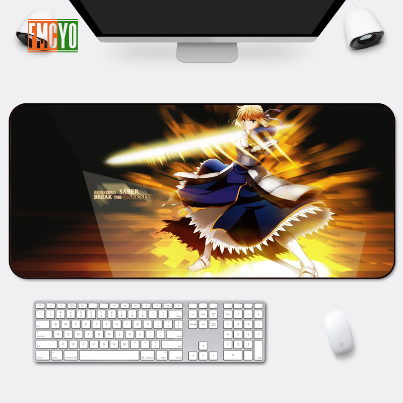 Image 3 - Hot Selling Game Oversized Mouse Mat Locking Anime Eating Chicken CF Athletic Thickening Table Mat Cute Office Anime Keyboard Ma-in Mouse Pads from Computer & Office