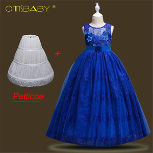 2018 Sweetheart Flower Girls Dresses for Wedding Teenager Girls Pink Tulle Exquisite Lace Dress Formal Birthday Party Ball Gowns(China)