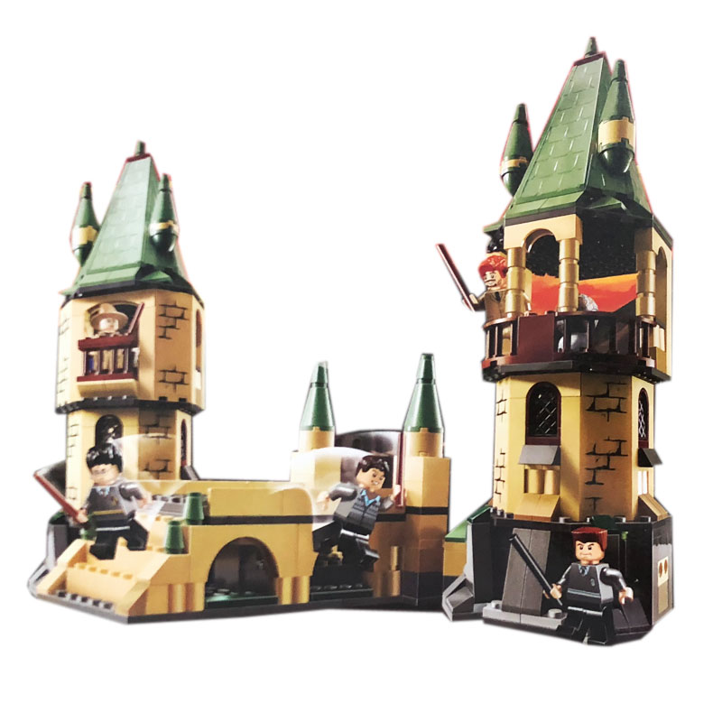 522pcs Potter Hogwarts Castle Model Building Block Brick Educational Toys Children Birthday Gift Compatible Legoing