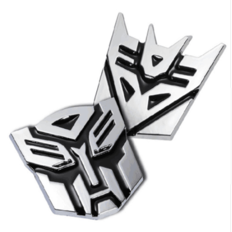 3D Car transformer personality decorative aluminium sticker For <font><b>Volvo</b></font> v70 v40 <font><b>v50</b></font> s60 s80 s40 xc60 xc90 Car <font><b>Styling</b></font> Accessories image