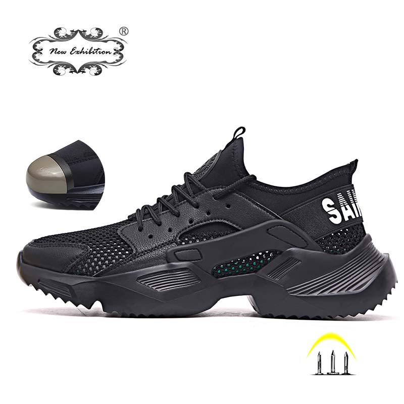 Sneakers Work-Boots Safety-Shoes Steel-Toe Anti-Smashing Breathable New Light Exhibition