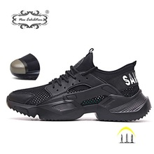 Sneakers Work-Boots Safety-Shoes Ultra-Light Steel-Toe Soft-Bottom Breathable Men Fashion