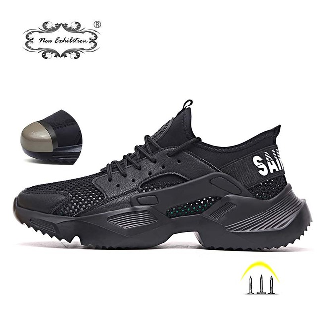 New exhibition Work Safety Shoes 2019 fashion sneakers Ultra-light soft bottom Men Breathable Anti-smashing Steel Toe Work Boots