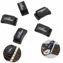 New 5pcs Rubber Pick Holder Fix on Headstock for Guitar Bass Ukelele Black