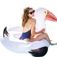 Inflatable Flamingo Swimming float Pool Float Pink Ride On Swimming Ring Adults Children Water Party Toys Piscina 150CM,HA055