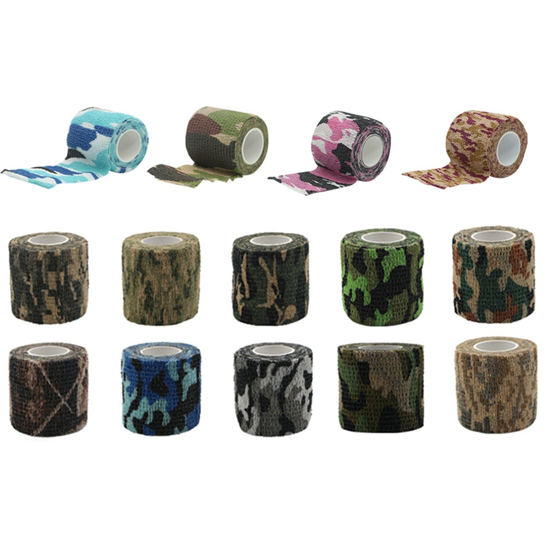 Multi-functional Camo Tape Non-woven Self-adhesive Camouflage Hunting Paintball Airsoft Rifle Waterproof Non-Slip Stealth Tape ttgtactical tactical self adhesive camouflage tape elastic camouflage cloth tape 150x30cm hunting rifle protective camo tape