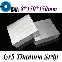 8 150 150mm Titanium Alloy Sheet UNS Gr5 CT4 BT6 TAP6400 Titanium Ti Plate Industry Or