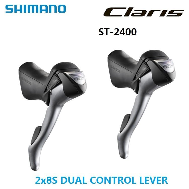 Bike Derailleurs SHIMANO Claris ST 2400 2x8S 16 Speed Dual Control Lever shimano Road STI levers Triple Handle Shift lever 105 st 5800 2 x 11 speed brake shift bike dual control lever 1 pair