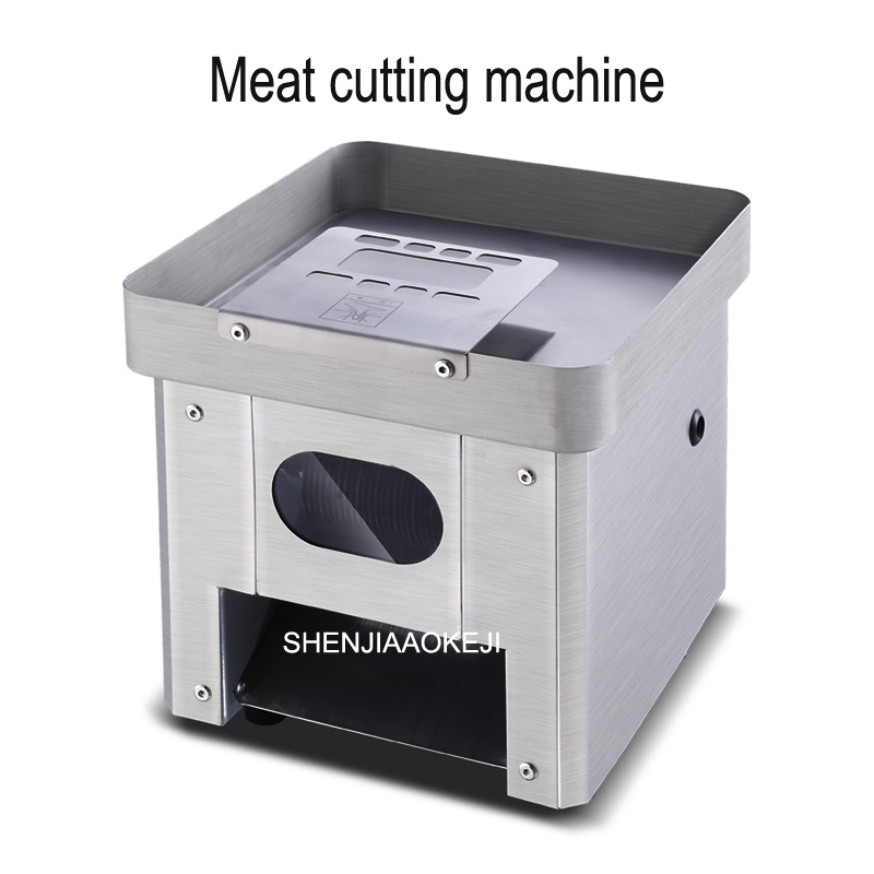 TS-80 Stainless Steel Electric Meat Slicer Shreds Fully Automatic Minced Meat Cutting Machine Vegetable Cutter 220V 1PC