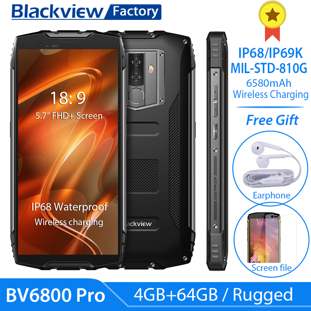 "Blackview BV6800 Pro IP68 IP69K Gesicht ID Smartphone 5,7 ""FHD 4GB + 64GB 16.0MP Handy Octa core Android 8.0 NFC 4G Handy-in Handys aus Handys & Telekommunikation bei AliExpress - 11.11_Doppel-11Tag der Singles 1"