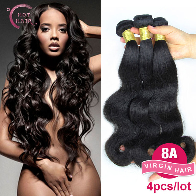 Unprocessed 8A brazilian body wave virgin brazilian hair weave human hair Hot hair products 4 pcs lot