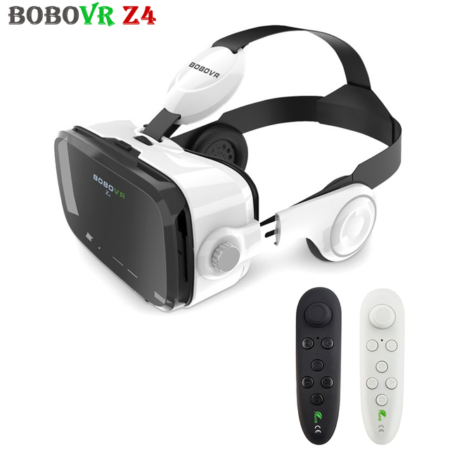 Supper Bass BOBOBVR Z4 Stereo VR 3D Glasses Virtual Reality 120FOV Headset Immersive Cardboard vrbox Smartphone for 4-6' Phone