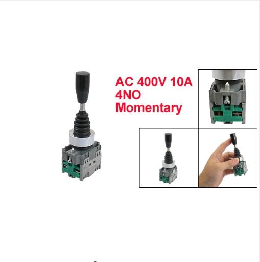 цена на HKL-D22 AC 400V 10A 2NO Momentary 22mm Fixing Thread 2 Way Joystick Switch