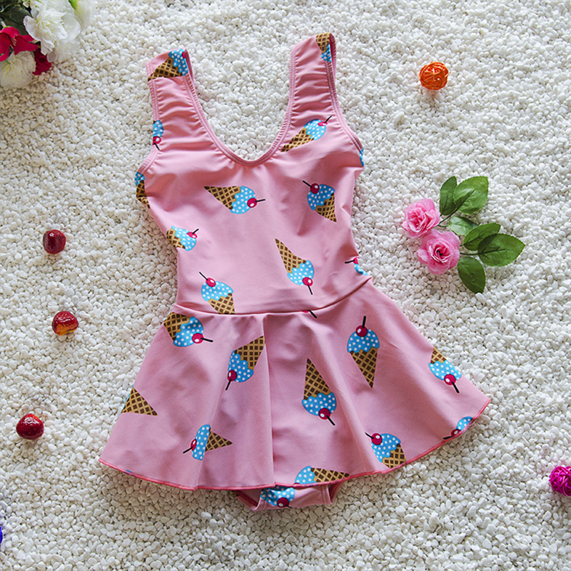 Professional Sale Children Girls Padded Swimsuit Summer Dress 6-16y Printing Swimming One Piece Suit Swimwear Kids Bathing Suit Beach Dress Attractive And Durable