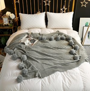 Image 5 - CAMMITEVER 3 גדלים 100% כותנה פום הסרוגה חוט שמיכות לתינוקות מבוגרים גודל תאום מיטת צייד זורק מיטת רצי