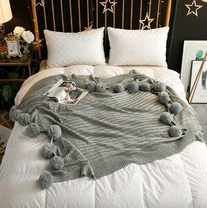 Image 5 - CAMMITEVER mantas de hilo de ganchillo 100% de algodón para bebés, adultos, cama de doble tamaño