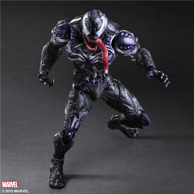 "Venda quente Jogar Arts Kai Veneno Spiderman Venom Action Figure Collectible Modelo Toy 260mm 10.23 ""PVC anime Avenger Jogar arts Kai"
