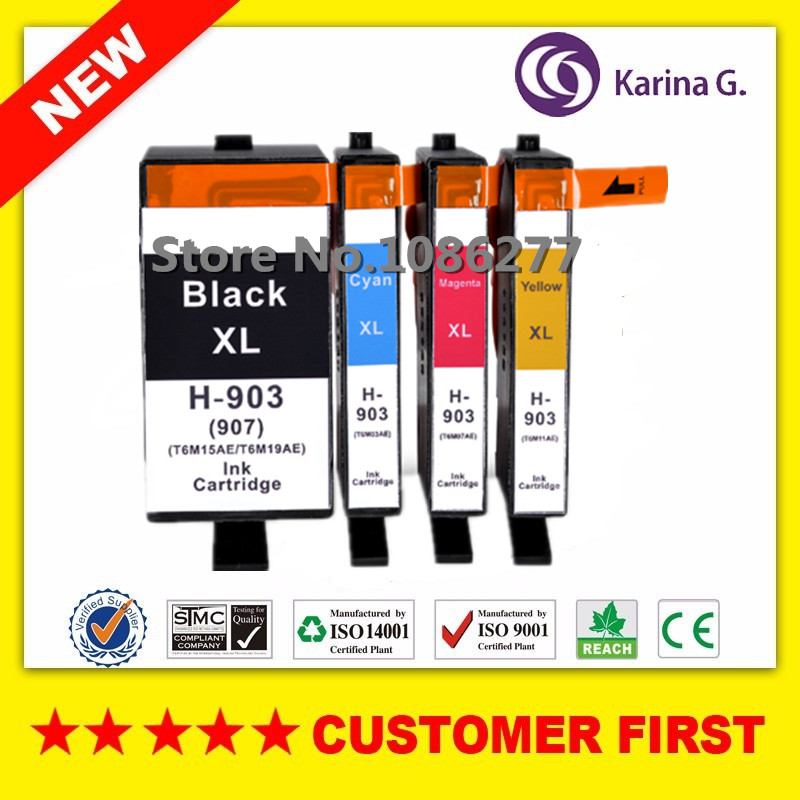 4PCS Compatible Ink Cartridge for hp 903 HP903 ( HP907 )XL suit for hp Officejet Pro 6950 6960 6962 6963 6964 6965 6966 newest 903 continuous ink supply system for hp 904 905 902 hp903 ciss without chip for hp officejet 6950 6960 6968 6970 6979