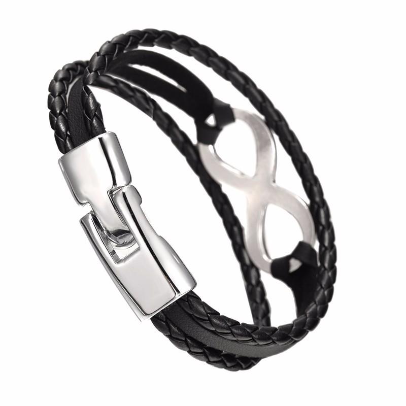 Bracelet en cuir style infinity très belle finition