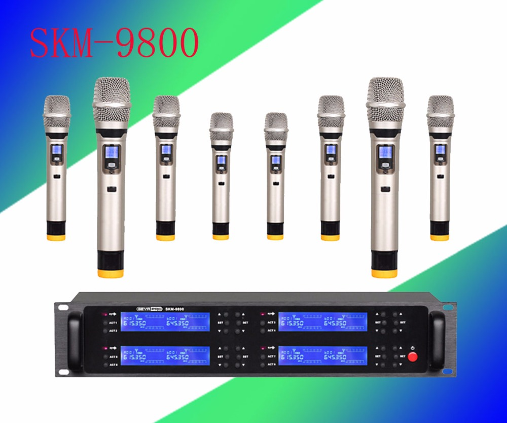 Pro microphone UHF 8 microphone wireless microphone Karaoke microfoon draadloos wireless microphone  System dsel brand men jeans denim white stripe jeans mens pants buttons blue color fashion street biker jeans men straight ripped jeans