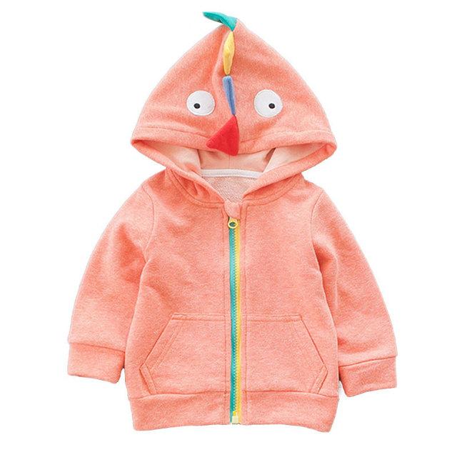 0-2 años de edad de los niños de la personalidad otros dinosaurios sombrero abrigo de 16 nuevo abrigo de invierno camisa de la cremallera de los bebés y los niños pequeños