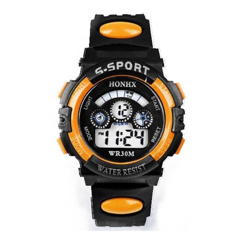 2018 mode étanche enfants garçon montres numérique LED Quartz Date sport électronique Quartz montre-bracelet livraison directe