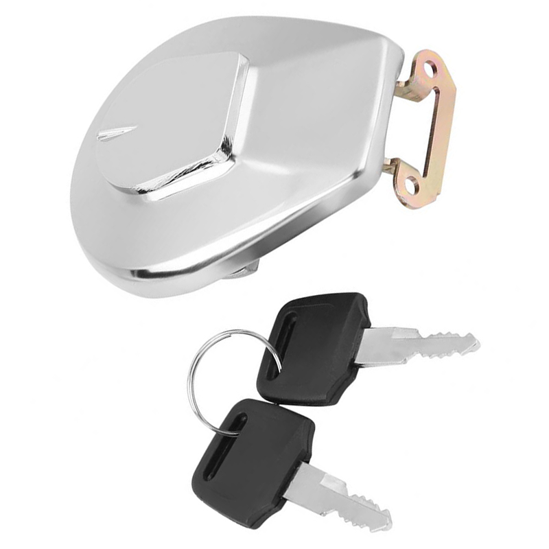 Image 3 - 1x Stainless Steel Motorcycle Oil Fuel Tank Gas Cap Cover W 2pcs Keys For Honda-in Tank Covers from Automobiles & Motorcycles