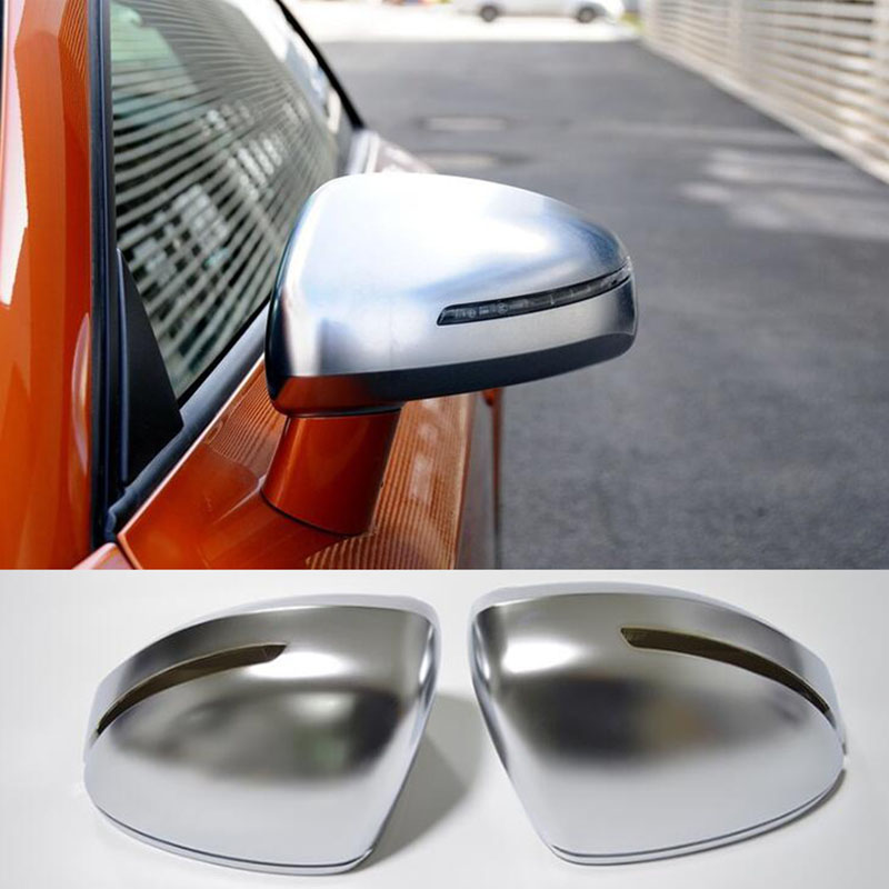 1pair For Audi TT 2008-2014 Side matt chrome Silver mirror case rearview mirror cover shell Replacement Cover abs mirror cover chrome matt painted cap side mirror housings for volkswagen jetta golf 5 passat b6 ct