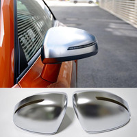 1pair For Audi TT 2008 2014 Side matt chrome Silver mirror case rearview mirror cover shell Replacement Cover